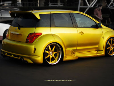 scion xa wallpapers. Toyota Scion Xa with Custom Candy Yellow Paint