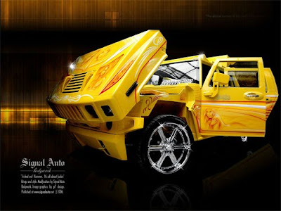 Isuzu Panther Modified into Hummer H2 SUT
