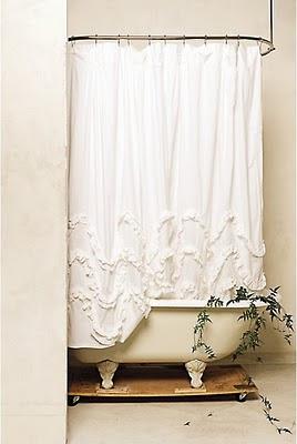 Bromeliad Make A Diy Anthro Ruffled Shower Curtain