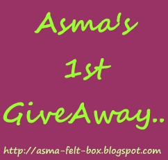 :: ASMA'S 1st GIVEAWAY ::