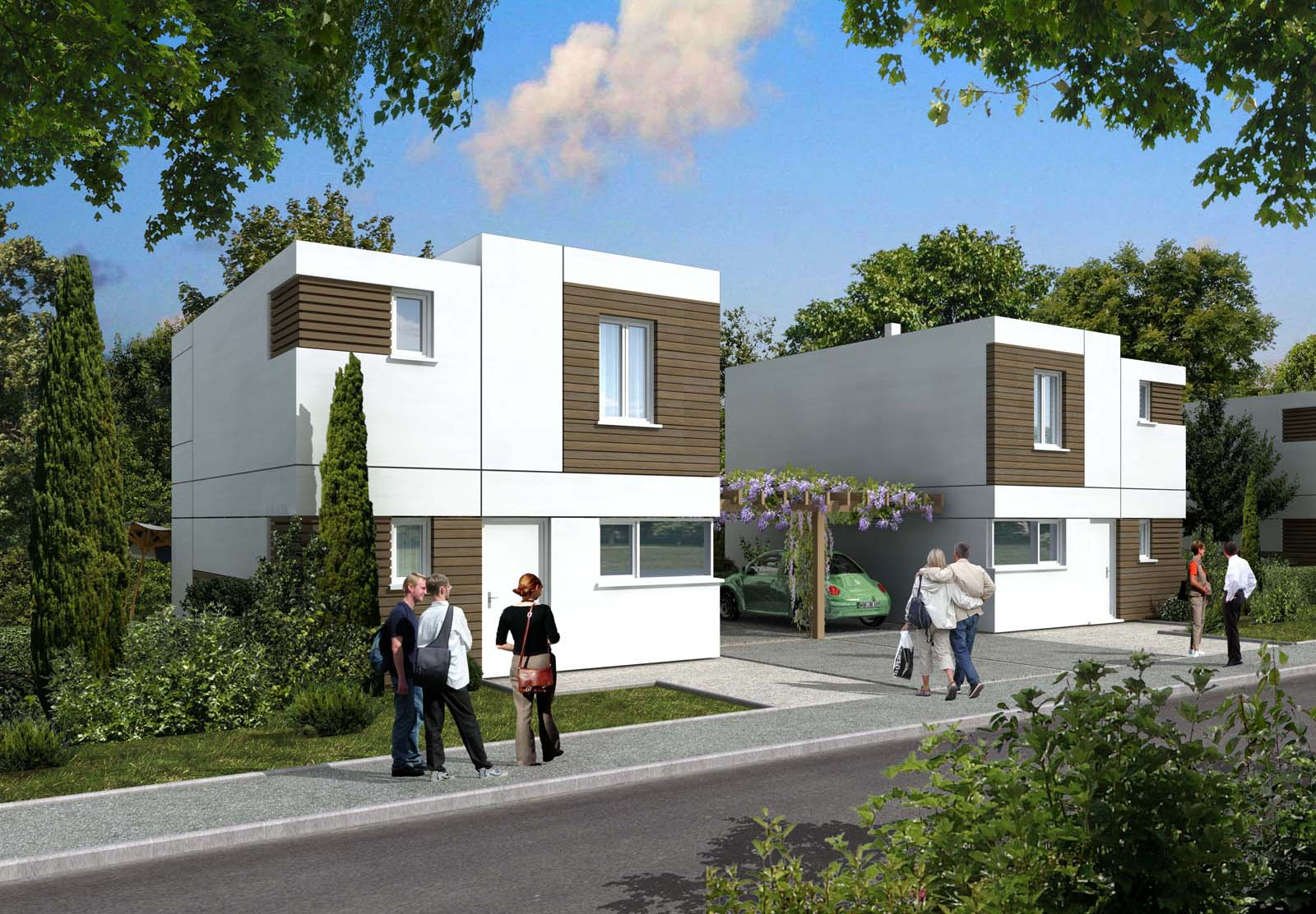 Christophe collignon maisons individuelles for Maisons individuelles