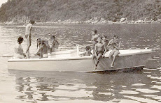La Selva With Kids 1971..First speed boat/parachute boat, in Yelapa, owned by Don Rogelio SR.