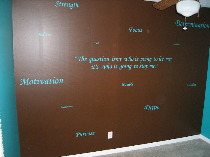 Retreat Room with Inspirational Words
