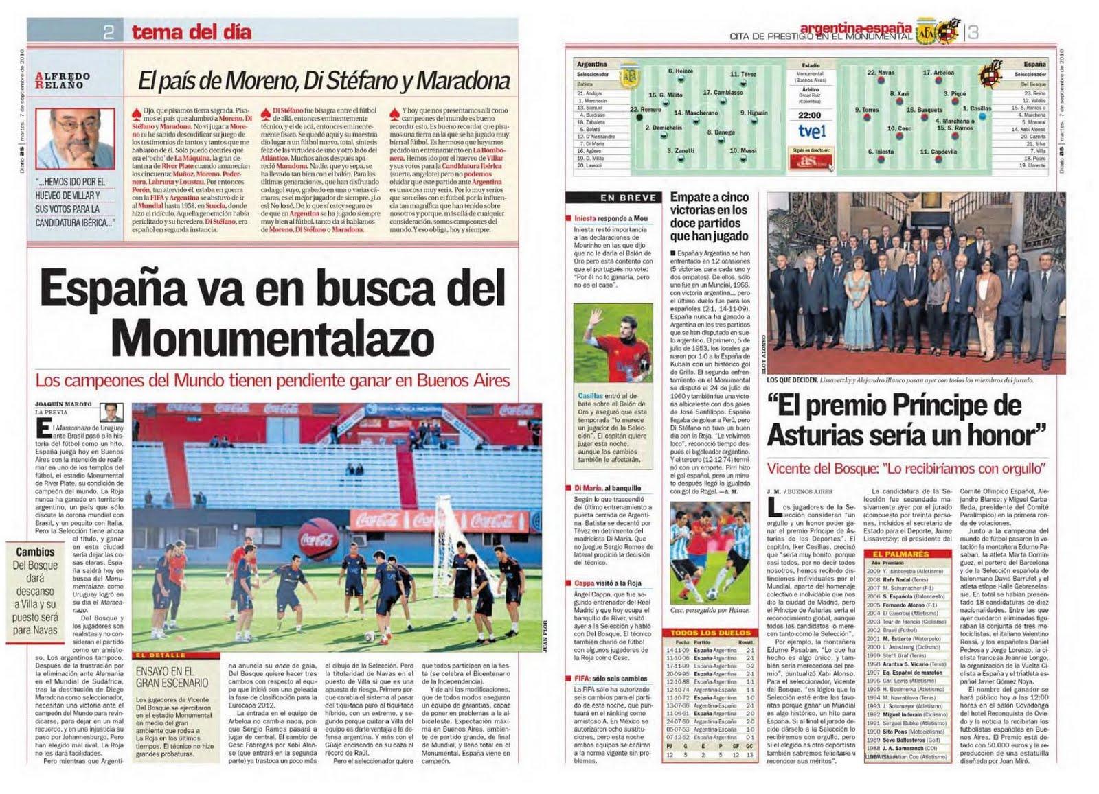 Tinta Deportiva La Previa De Argentina Espa A En Los