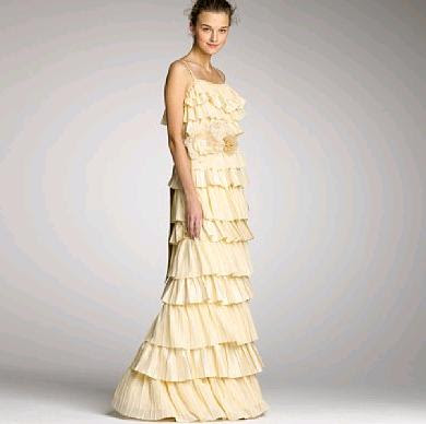 These wedding dresses from J Crew positively amazed me Ruffled tiers a hit