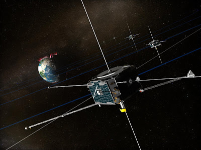 artist's concept of the THEMIS spacecraft