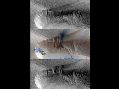 Seasonal Changes in Northern Mars Dune Field