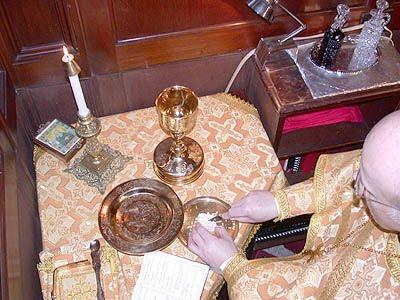 Preparacion Sagrados Dones Santo Altar de la Protesis