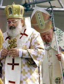 El Papa y el Cardenal de Ucrania Celebran la Divina Liturgia
