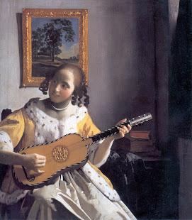Johannes Vermeer  - De Gittarspeelster (c. 1670-72)