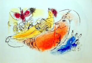 Marc Chagall - El acordeonista (1957)