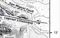 Faults north and south of Rapu-Rapu