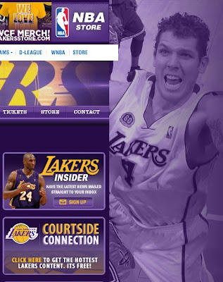 Funny Luke Walton Photo on the Lakers website