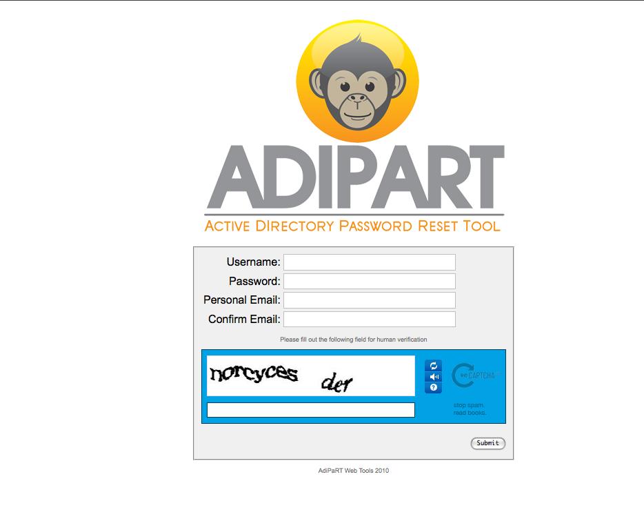 an Open Source Active Directory Password Reset Tool