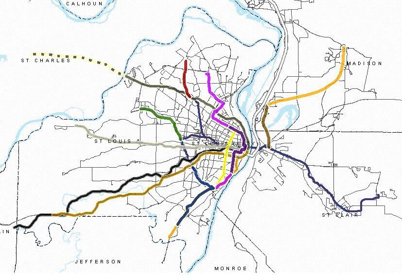 Dotage St Louis Transit Maps