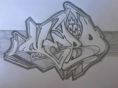 graffiti sketch, graffiti 3d