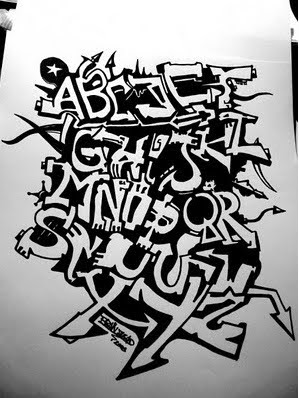 graffiti sketch, graffiti alphabet