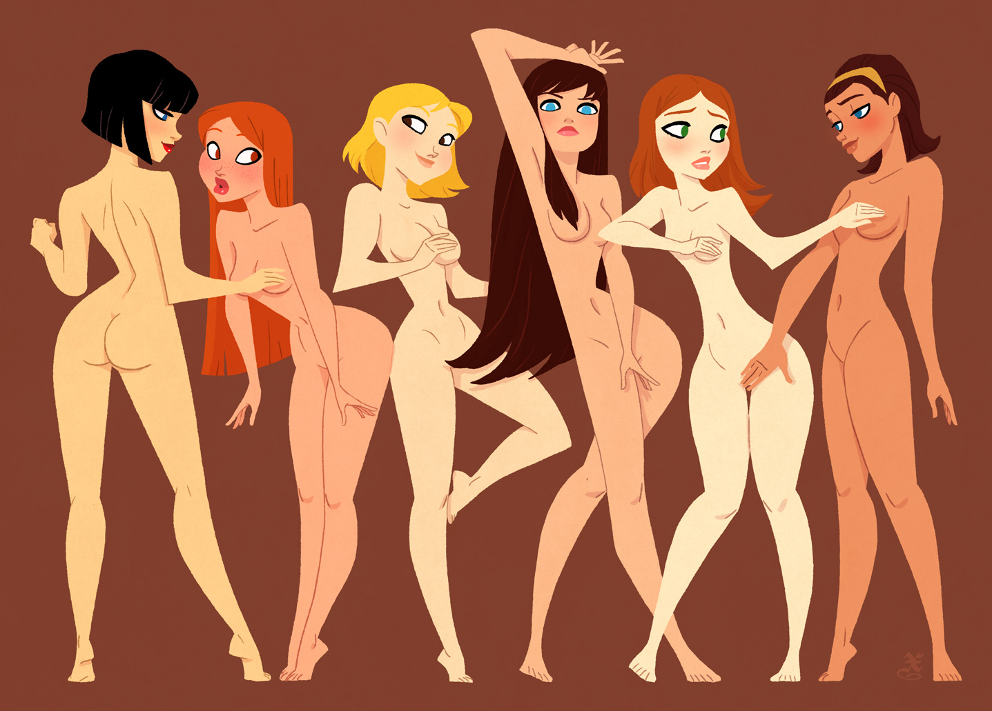 cartoon girl naked