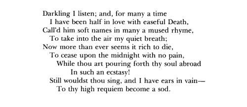 essay on john keats poem ode to a nightingale