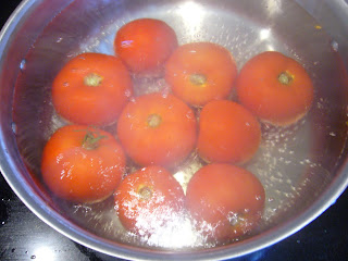 preserving tomatoes - local food from my vegetable garden