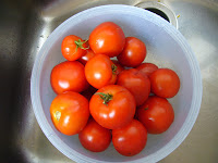 Tomatoes from the 2 Green Acres vegetable garden