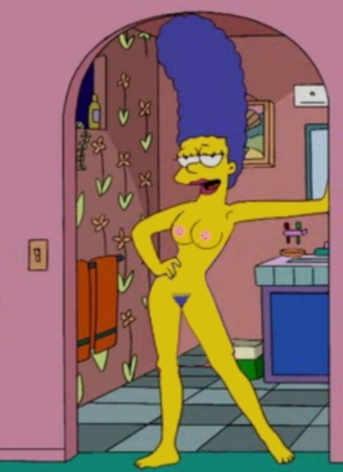 Marge Simpson The Simpsons Shower