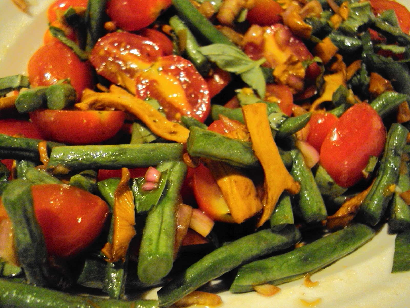 Green Bean Salad with Chanterelles