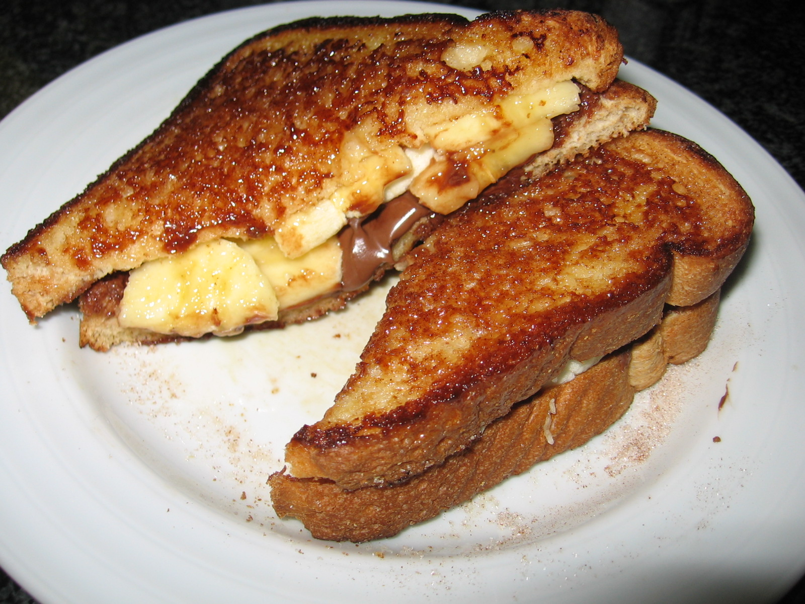 pudding nutella banana marshmallow creme panino roasted banana nutella ...