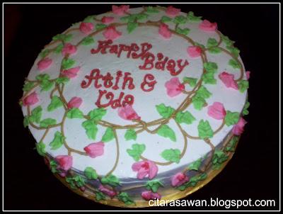 kek ilham dari helikonia utk anak-anak mak long, Atih dan Uda yang ...