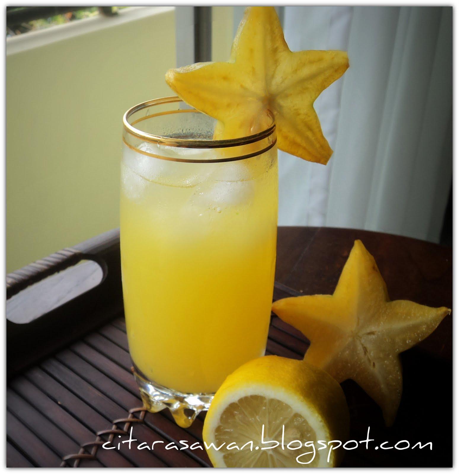Jus Buah Belimbing Jus Belimbing Lemon