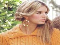 Yakalı Örgü Bayan Kazak Modeli (turuncu)