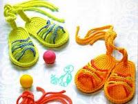örgü sandaletler