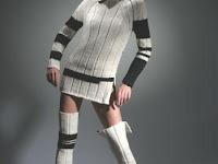 örgü mini elbise modelleri