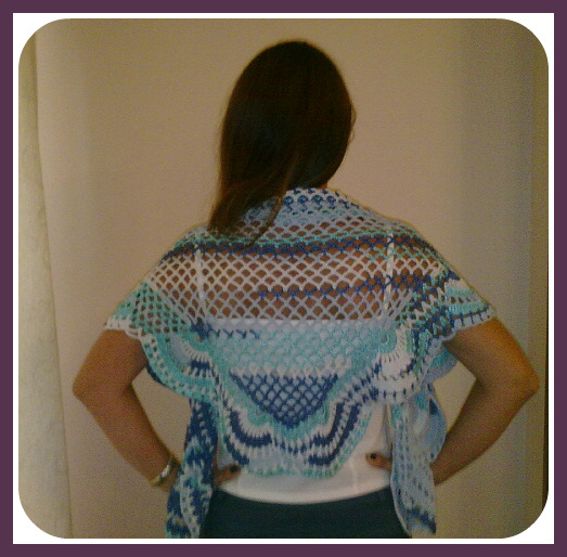 A punto de red: Chal a crochet fácil, fácil