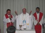 + Monseñor Gonzalo, el Rev. P. Muanuel  y el Rev. P. Abelardo.