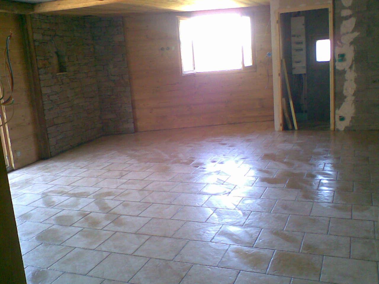 Service bricolage sol de salle manger carrelage en for Solde salle a manger