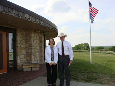Rep. Bowers and Treasurer McKinney at the Pawnee Indian Museum