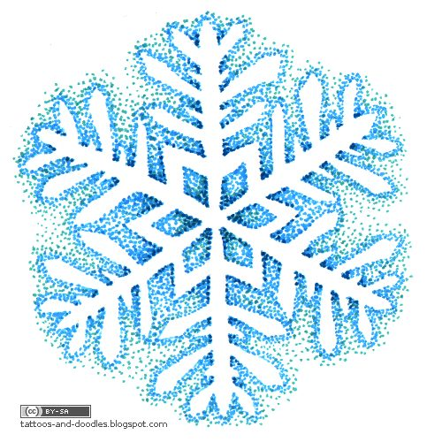 Tattoos and doodles: Snowflakes - and happy new year! :)
