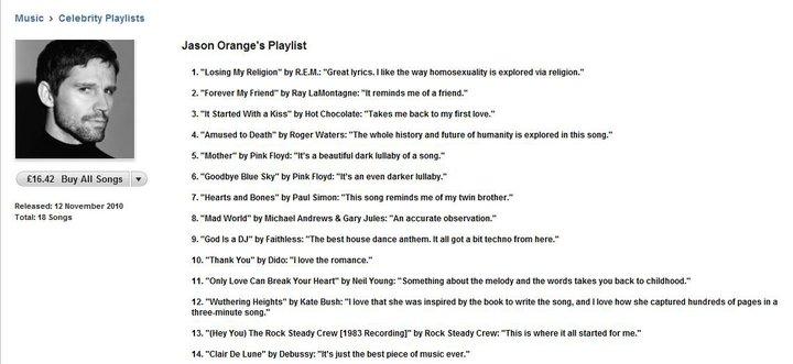 Take that love songs list