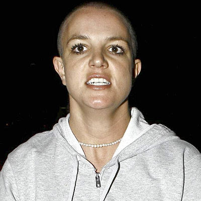 Britney Spears bald head