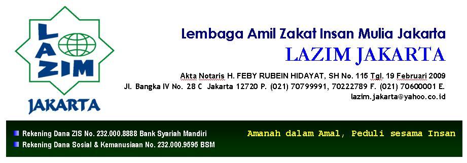 Lembaga Amil Zakat Insan Mulia Jakarta, LAZIM JAKARTA
