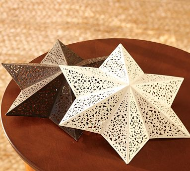 Green gardenia simple inspiring filigree star ceiling clip shade i really like this star clip on light shade from the latest pottery barn catalog its a simple way to dress up a room mozeypictures Gallery
