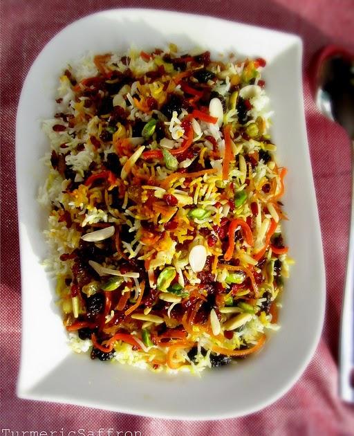 Turmeric & Saffron: Javaher Polow - Persian Jeweled Rice