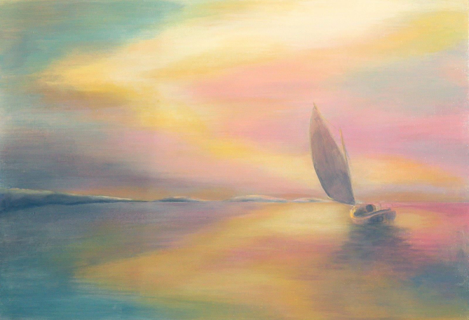 Catboat 18—Pink Sky