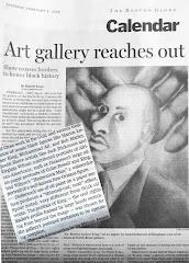 """""""Boston Globe"""" shows Dickerson's Portrait of Dr. Martin L. King"""