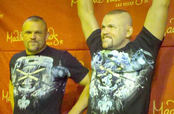 Chuck Liddell is a wax dummy. No really.
