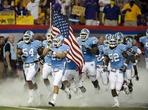 "Your Ricky Stanzi ""America, Love It or Leave It!"" Moment of the Day: The Tar Heels have a Grand Old Flag"