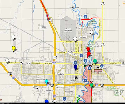 Map Of The Week Map Of The Week  Fargo Flood Wiki