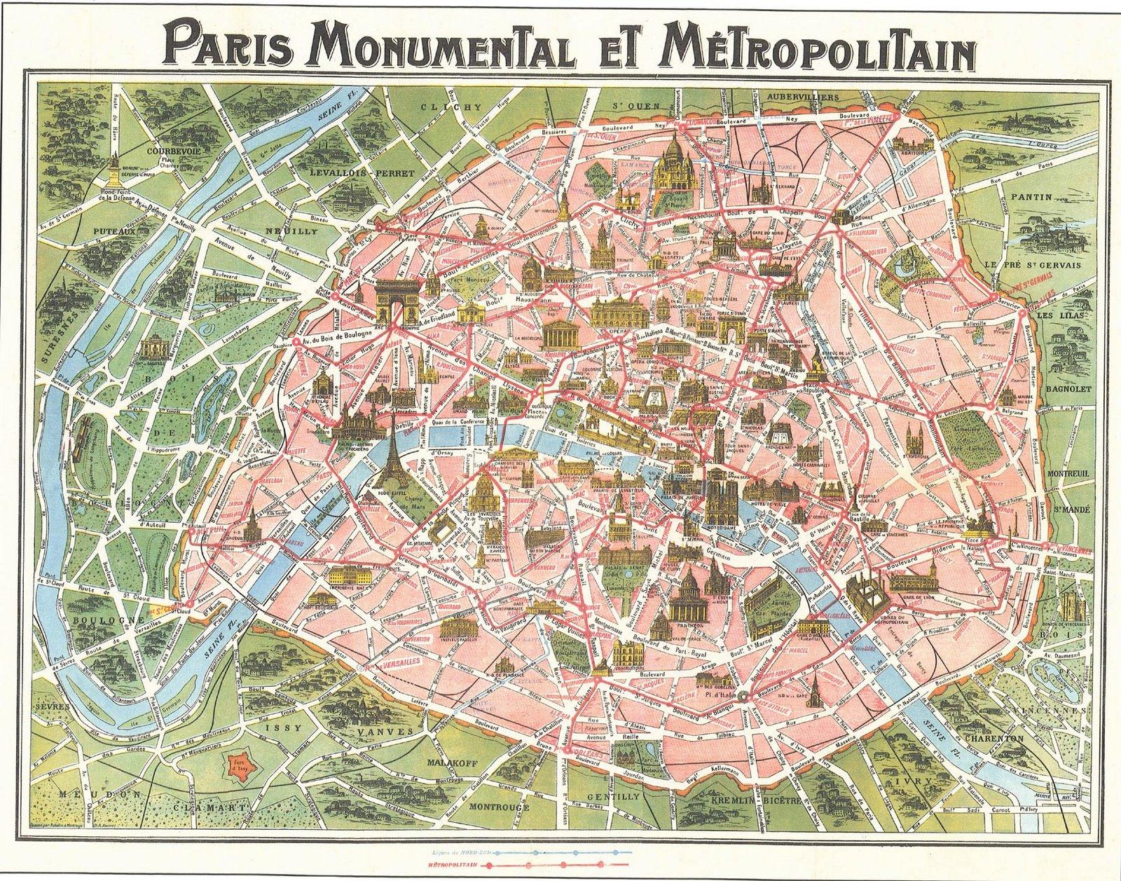 Map Of Paris Circa Victorian Paris - Victorian world map