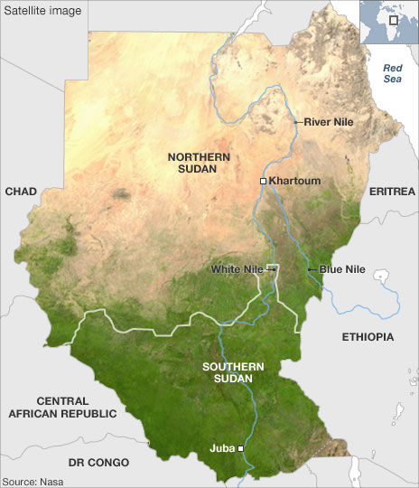 Map of the Week Map of the Week  The Sudan Referendum